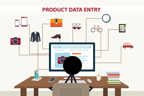 e-commerce product data entry